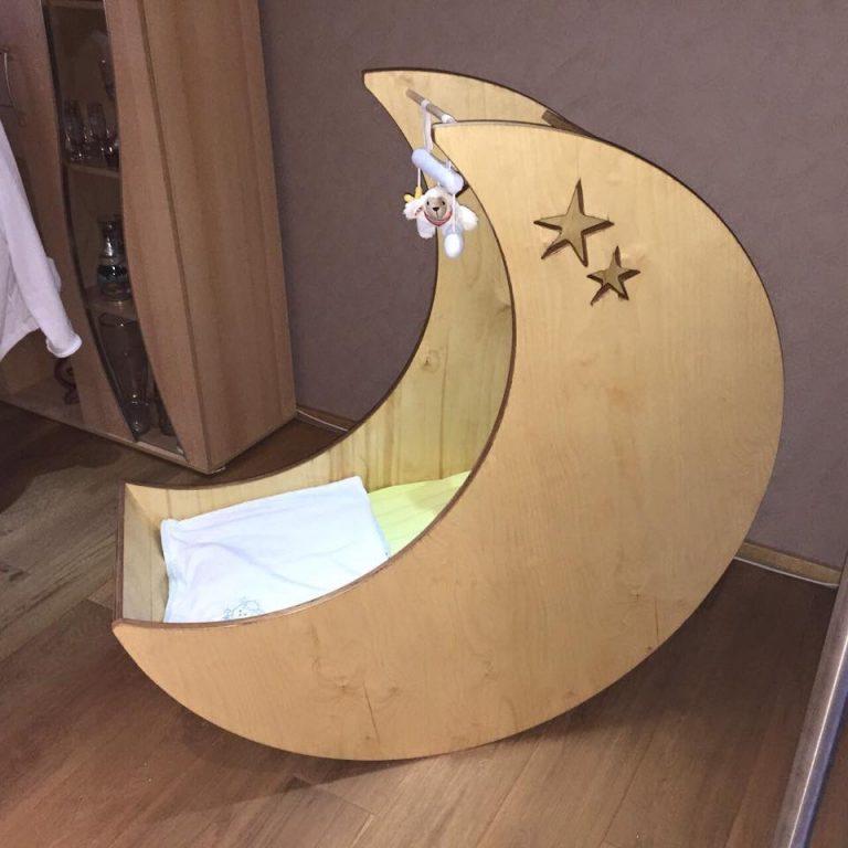 Kinderbett/ Kinderwiege Mond